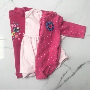 Bundle baby girl long sleeve onesies bodysuits